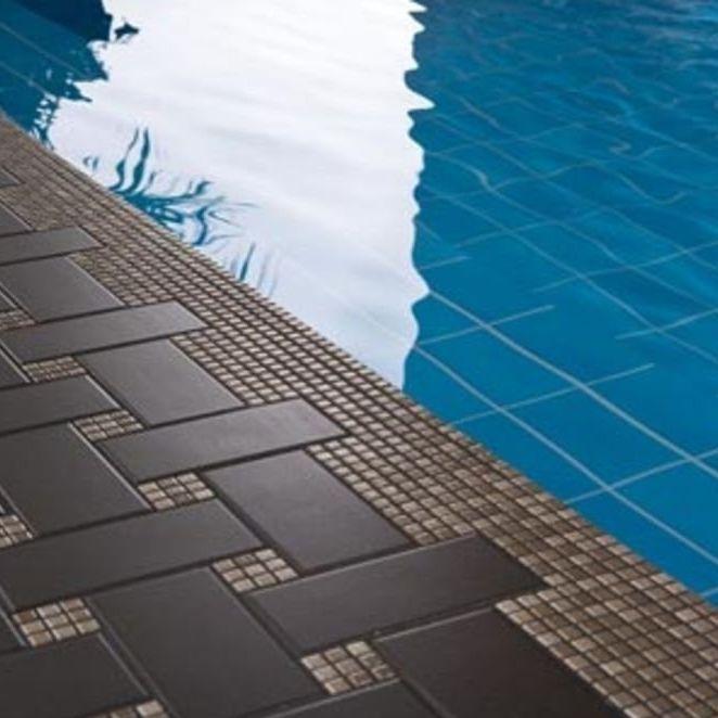Indoor Mosaic Tile Pool Floor Ceramic Open Space Rutile
