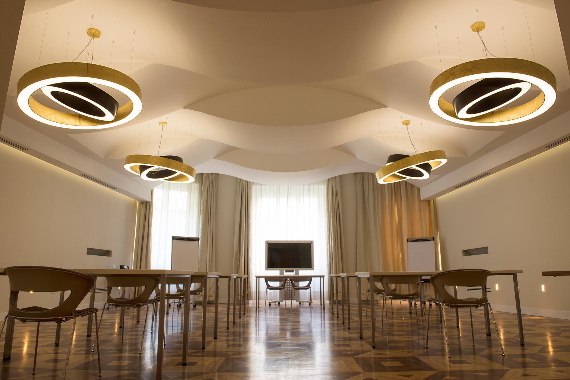 Pendant lamp contemporary metal led golden ring by enzo pendant lamp contemporary metal led golden ring by enzo panzeri panzeri parisarafo Choice Image
