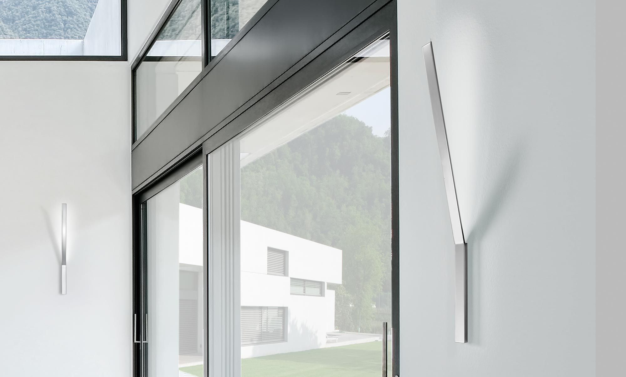 contemporary wall light  metal  glass  polycarbonate  ypsilon  - contemporary wall light  metal  glass  polycarbonate ypsilon panzeri