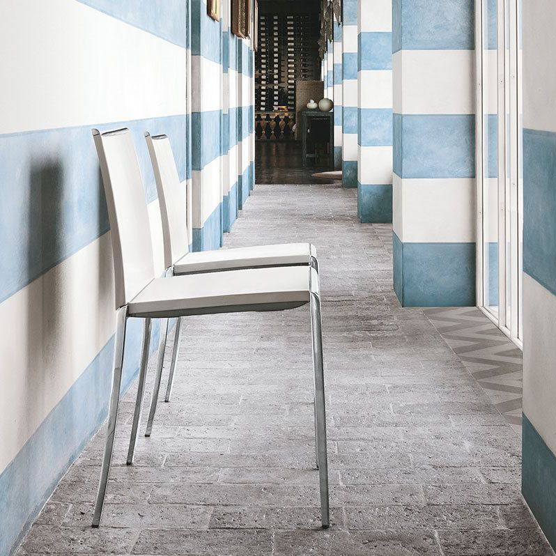 Contemporary Chair / Upholstered / Stackable / Aluminium   TANGO By  Archirivolto