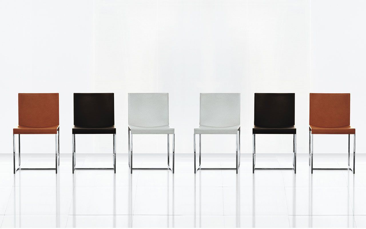 ... Contemporary Chair / Upholstered / Sled Base / Leather AXIA By Bavuso  Giuseppe ALIVAR ...