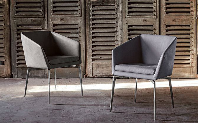 ... Contemporary Chair / Upholstered / With Armrests / Central Base DENISE  By Bavuso Giuseppe ALIVAR ... Amazing Pictures