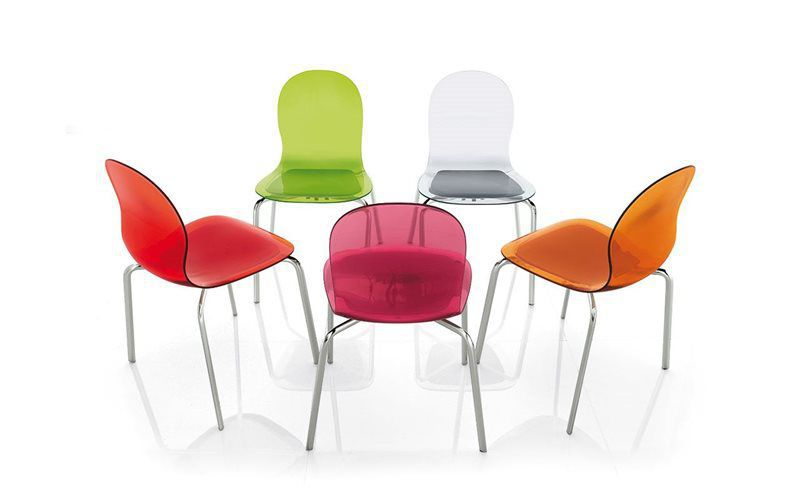 ... Contemporary Chair / Stackable / Anodized Aluminum / Plastic LOLLIPOP  By Archirivolto ALIVAR