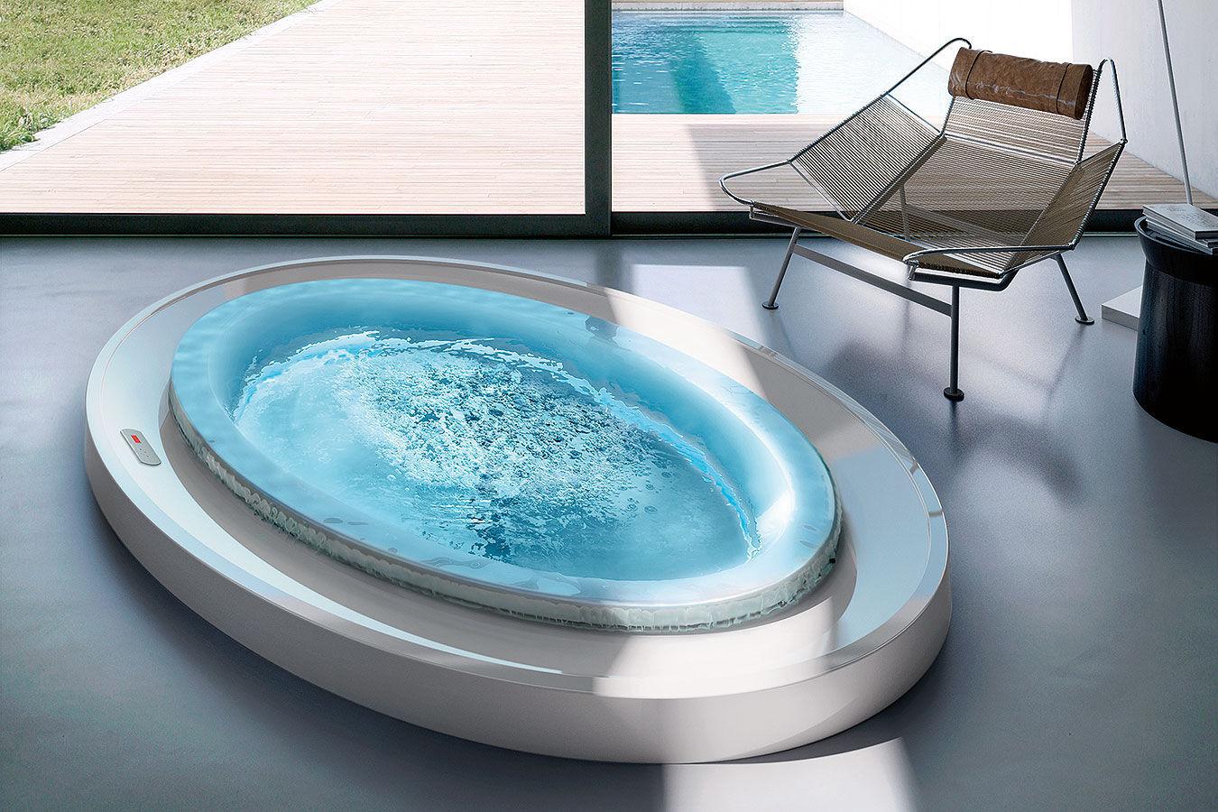 Oval bathtub / acrylic / hydromassage / by Marc Sadler - FUSION SPA ...