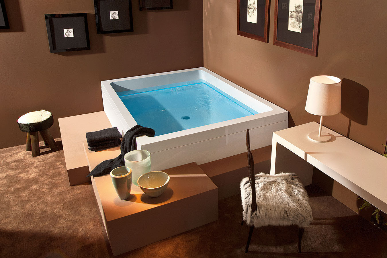 Acrylic bathtub / hydromassage / by Marc Sadler - DREAM 200 - GRUPPO ...