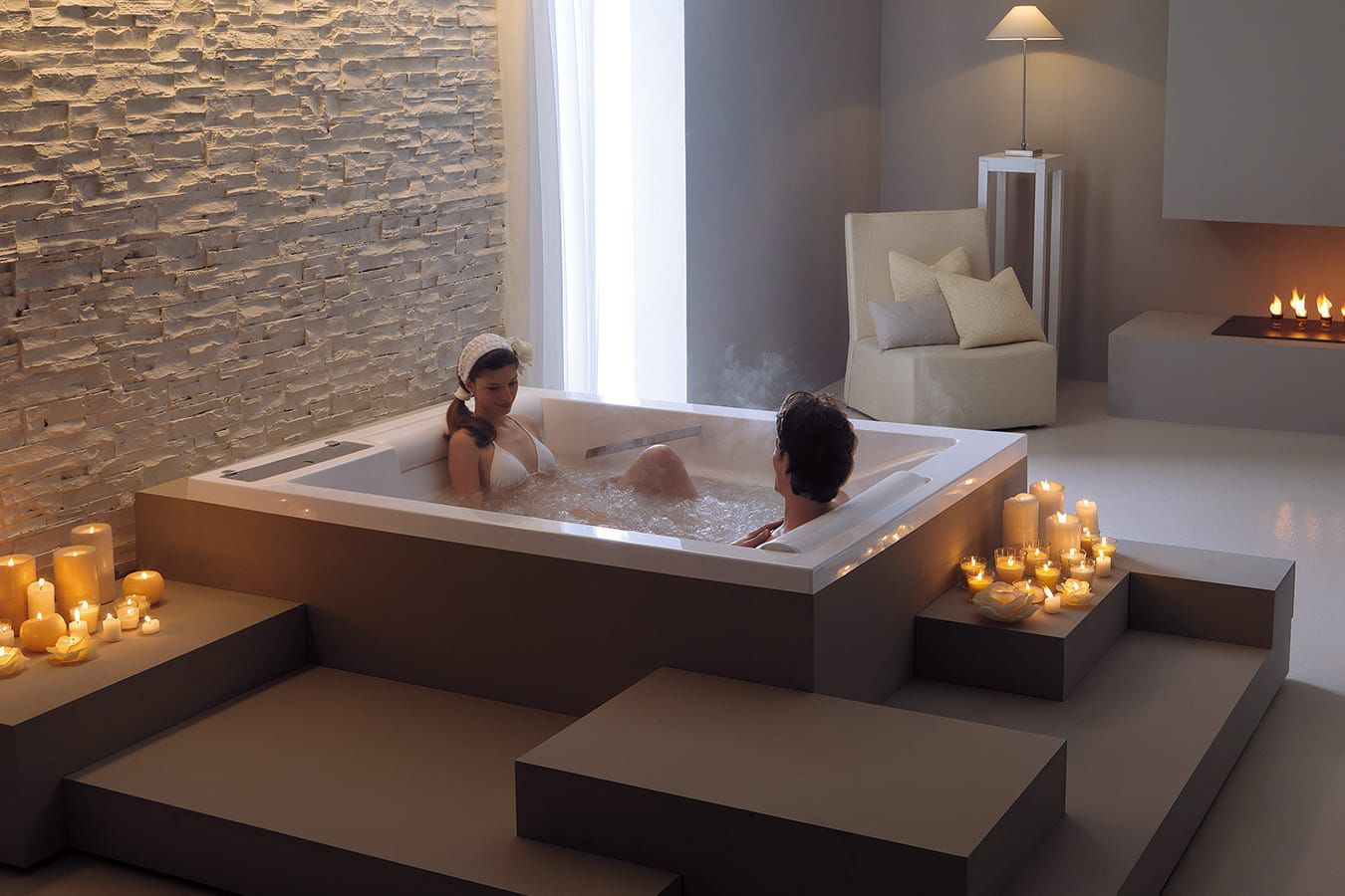 built in bathtub acrylic double bis mts by paolo parea