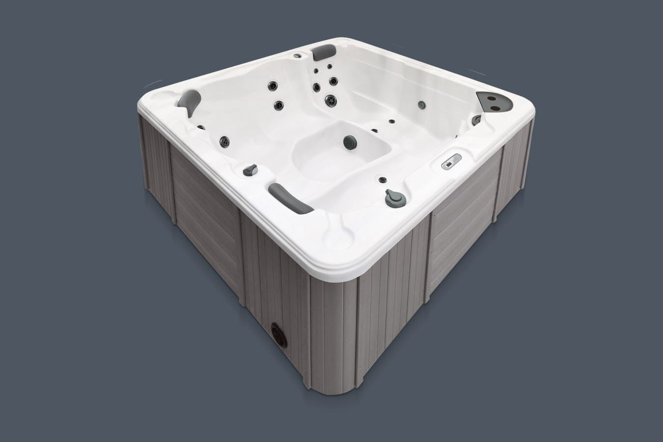 Above-ground hot tub / square / 3-seater / 2-person - NAXOS - GRUPPO ...