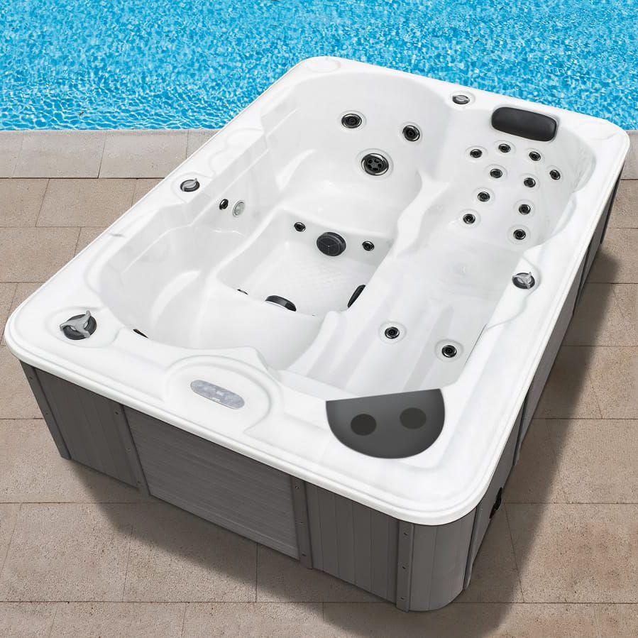 Above-ground hot tub / rectangular / 2-person / 1-person - DUBAI ...