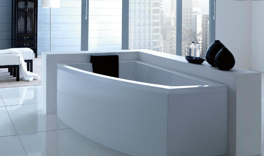 Corner bathtub / acrylic / hydromassage - ASYX by Paolo Parea ...