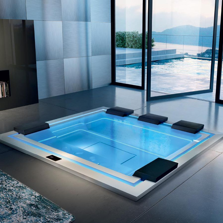 Built-in hot tub / rectangular / 8-person / indoor - ZEN by Marc ...