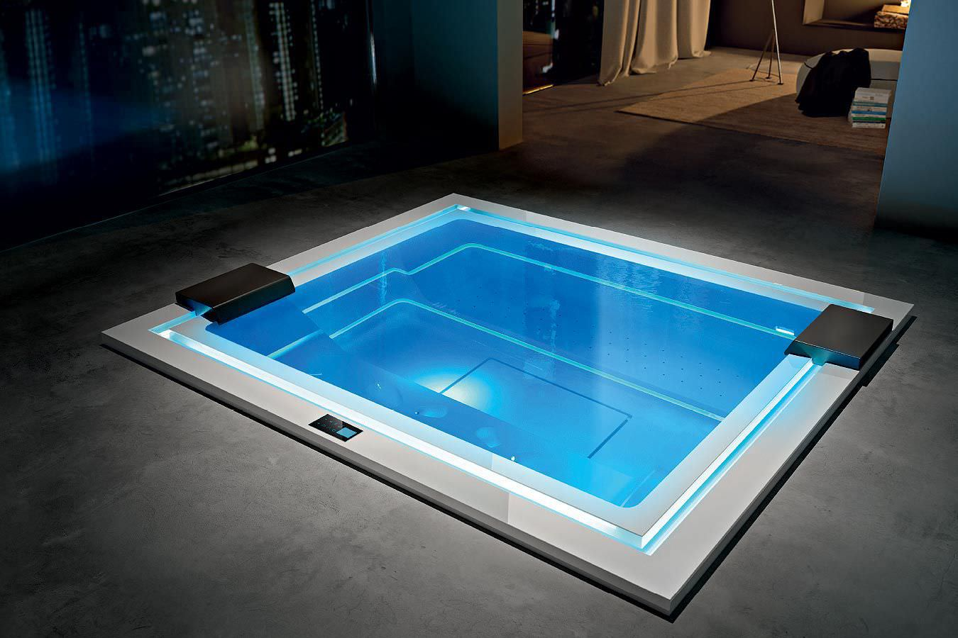 Built-in hot tub / rectangular / 8-person / indoor - ZEN by Marc ...