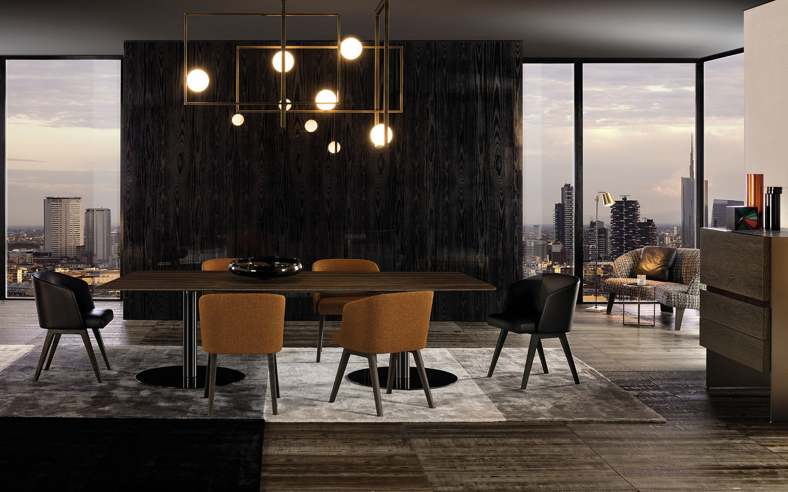 Uncategorized Minotti Dining Table contemporary dining table wooden metal rectangular bellagio by gordon guillaumier minotti