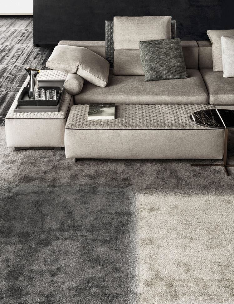 ... Modular sofa / contemporary / leather / fabric YANG Minotti ...