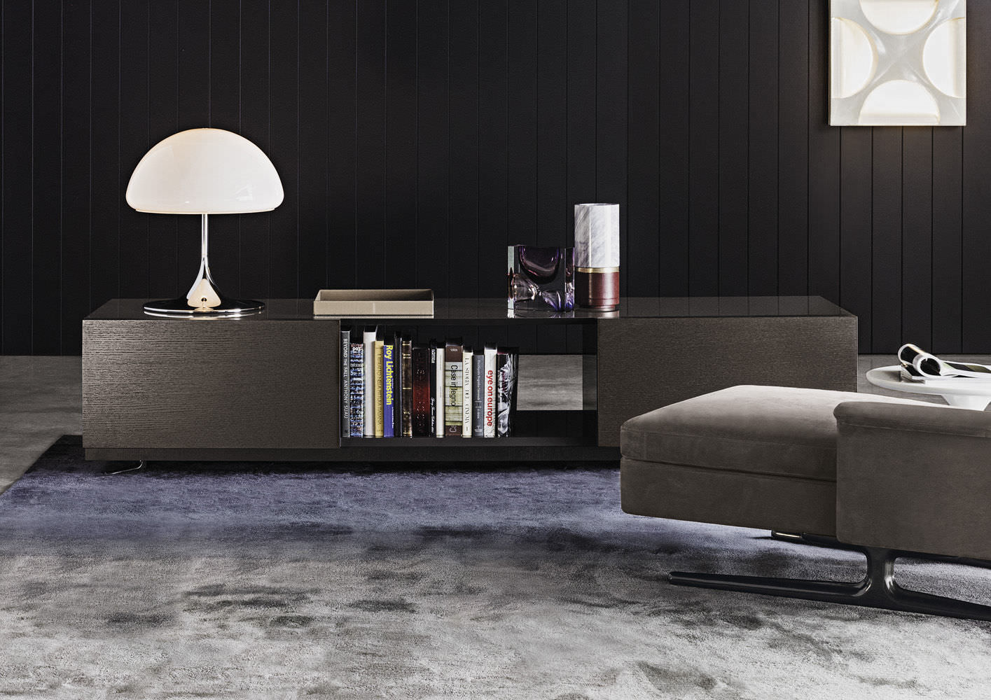 Meubles Minotti contemporary sideboard / wooden / lacquered wood /rodolfo