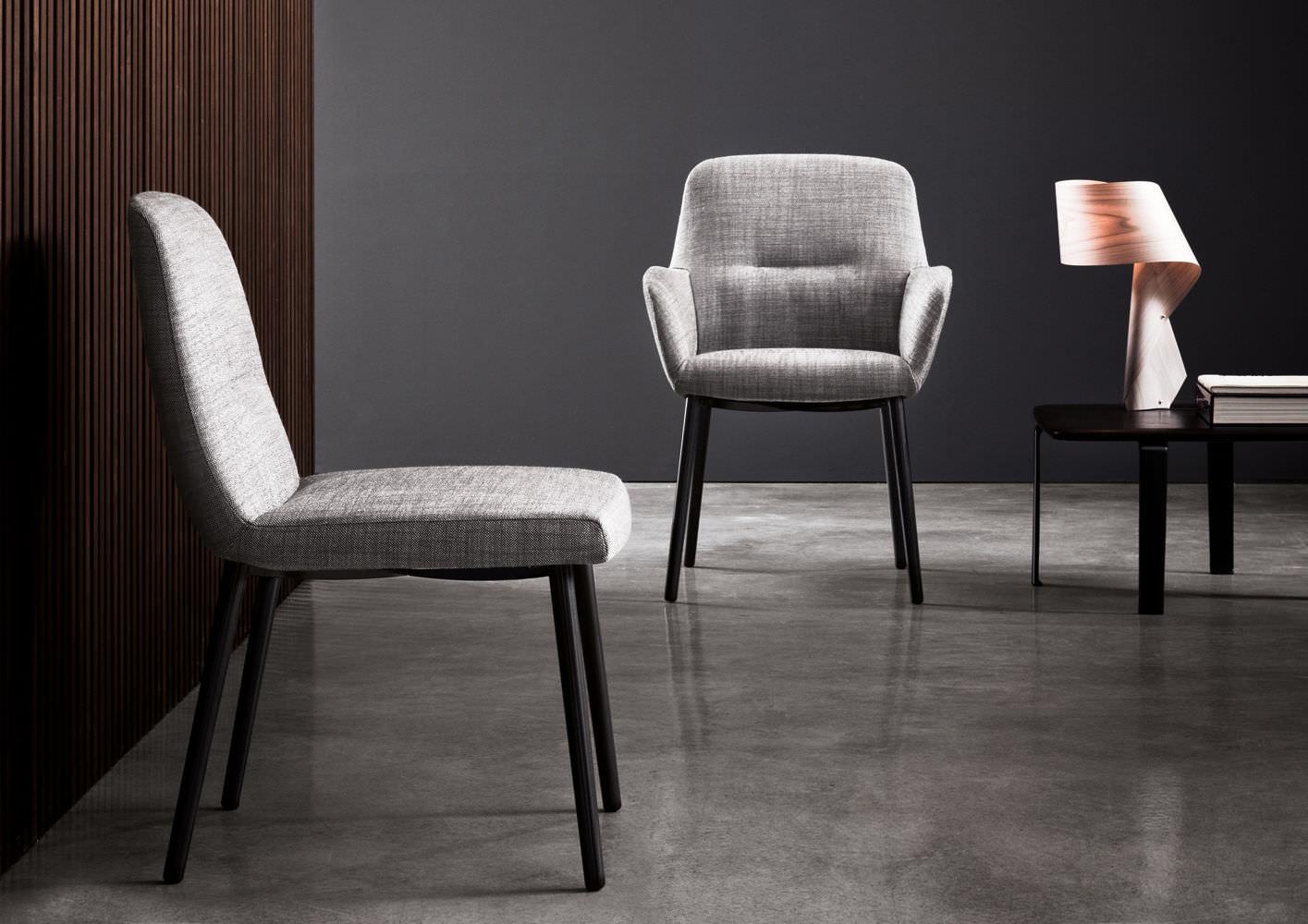 ... Contemporary Chair / Upholstered / Ergonomic / Fabric FLAVIN Minotti