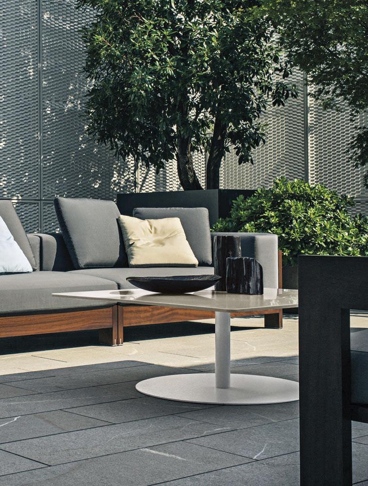 ... Contemporary Coffee Table / Corian® / Square / Garden BELLAGIO By  Gordon Guillaumier Minotti ...