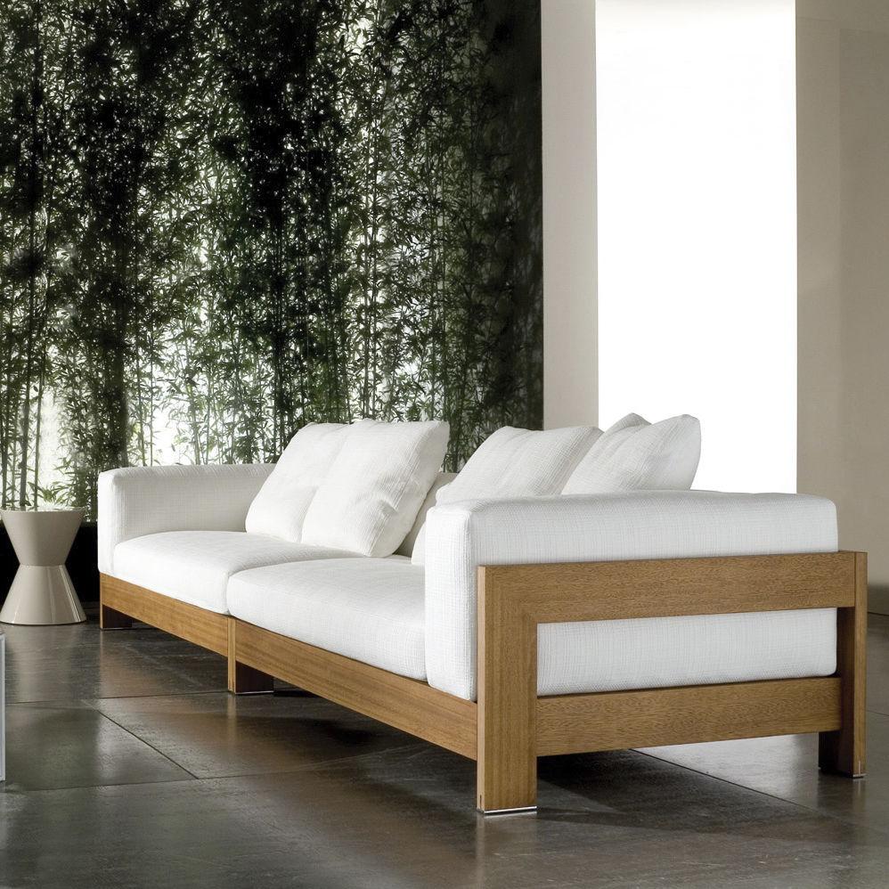 Contemporary Sofa / Wood / By Rodolfo Dordoni / 4 Seater ALISON IROKO By  Roberto ...