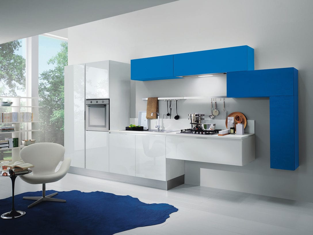kitchen designs by delta.  Contemporary kitchen laminate lacquered high gloss MYA by Studio Delta COMPOSIT