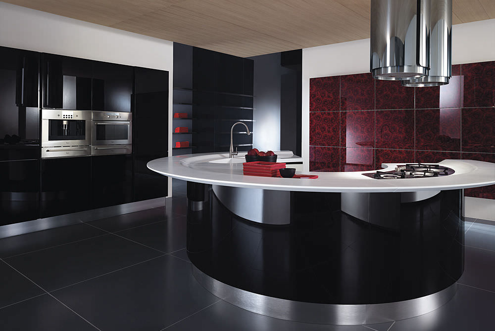 Contemporary Kitchen Laminate Island Lacquered MAXIMA By - Cuisine maxima