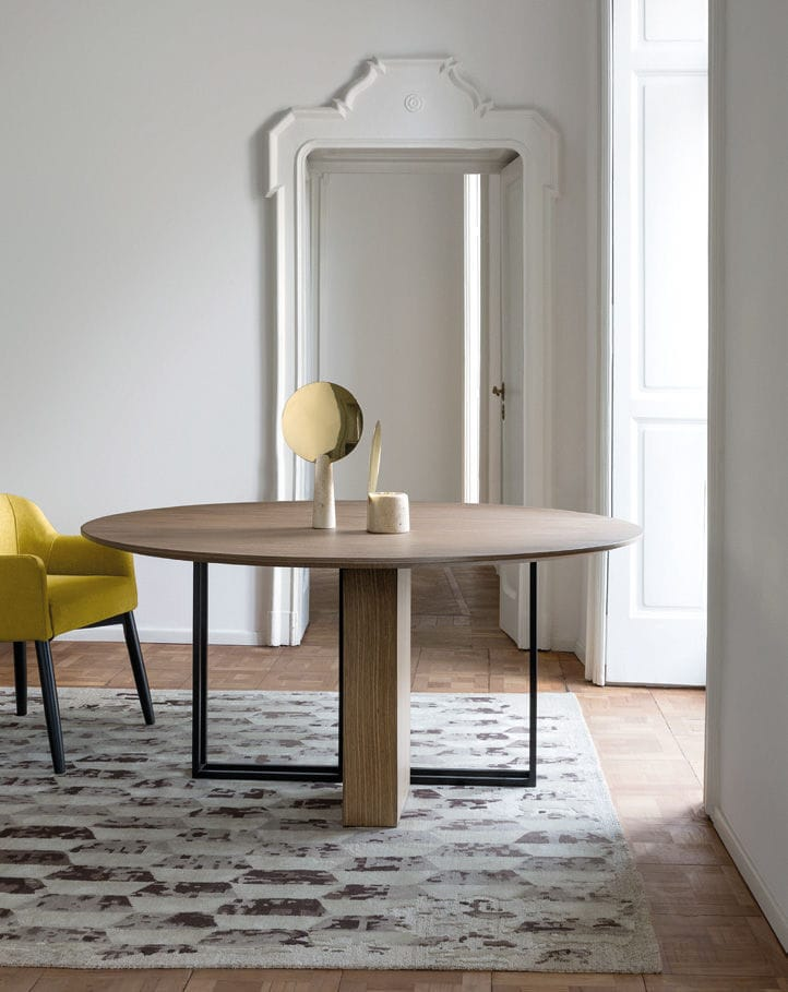 ... Contemporary Dining Table / Brass / Round / Square PLINTO XW By Andrea  Parisio MERIDIANI