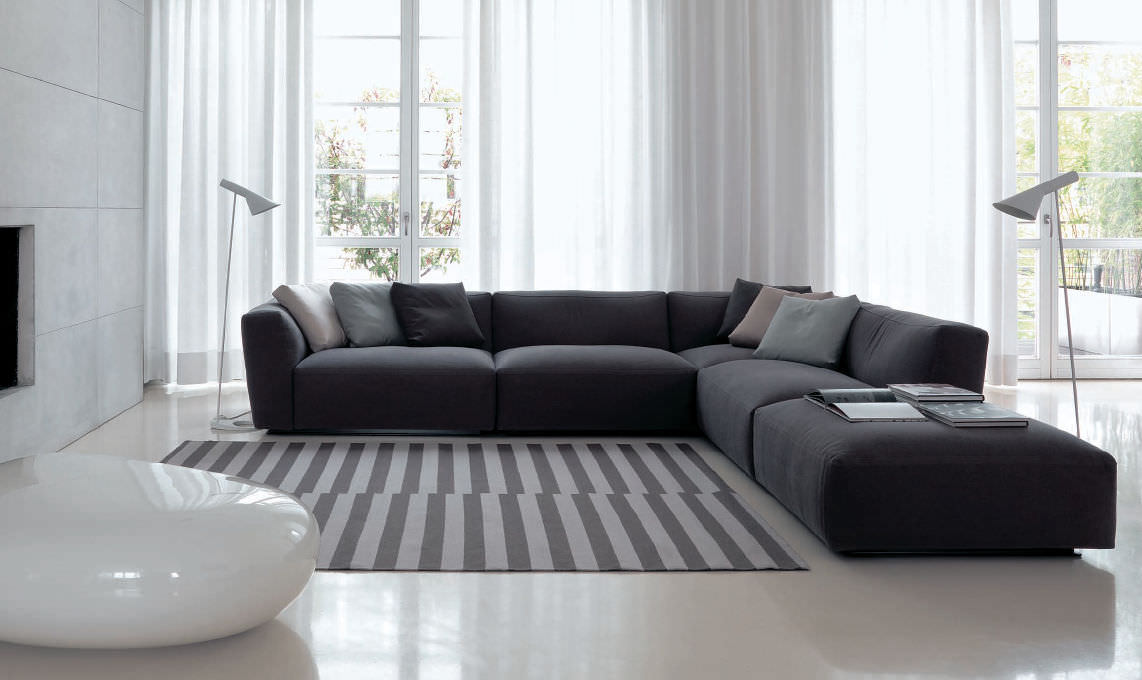 Corner Sofa Modular Contemporary Fabric