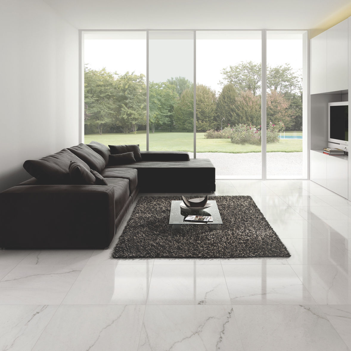 Indoor Tile For Floors Porcelain Stoneware Polished Dreaming Crystal White