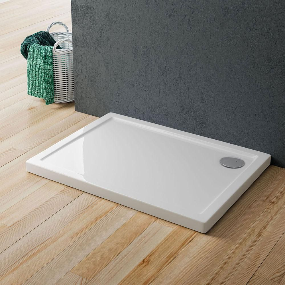 rectangular shower base acrylic with extraflat drain cinco