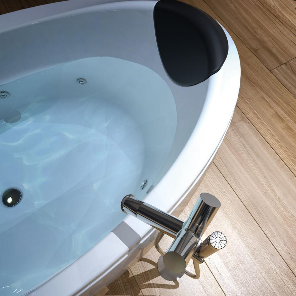 Free-standing bathtub / oval / acrylic / chromotherapy - ARENA by ...