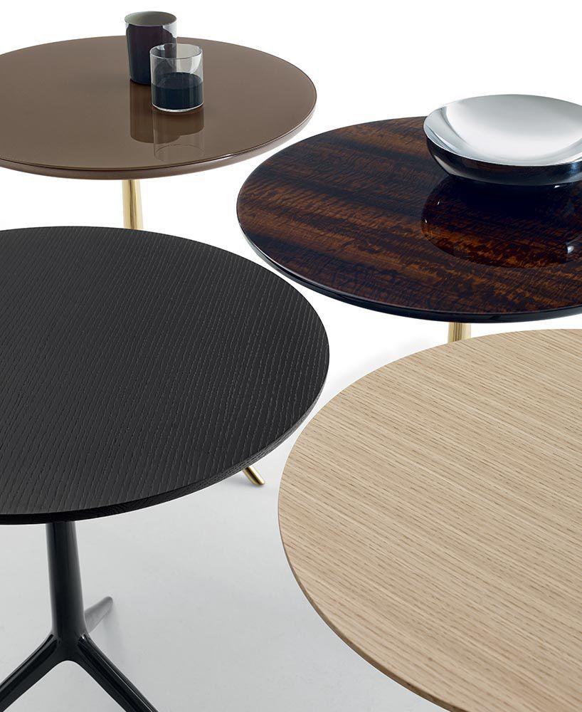 ... Contemporary Pedestal Table / Glass / Wood Veneer / Brass COZY Bu0026B  Italia ...