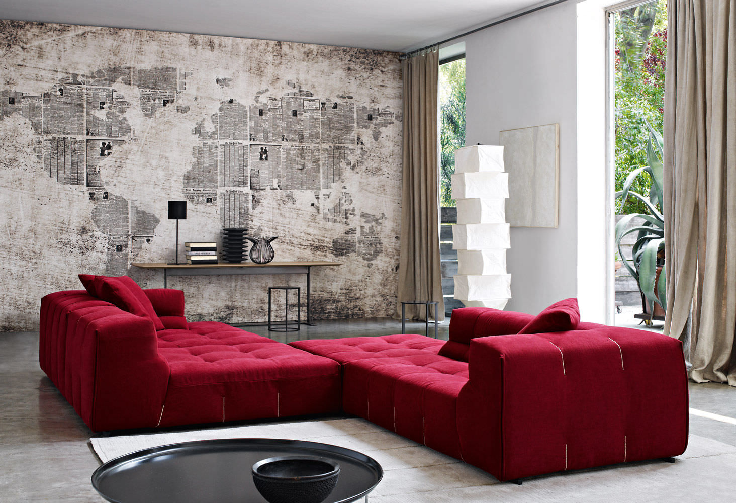 ... Modular Sofa / Contemporary / Leather / Fabric ...