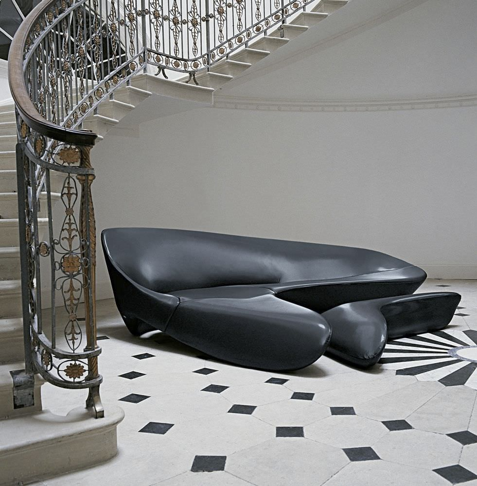 Corner Sofa / Organic Design / Fabric / By Zaha Hadid   MOON SYSTEM