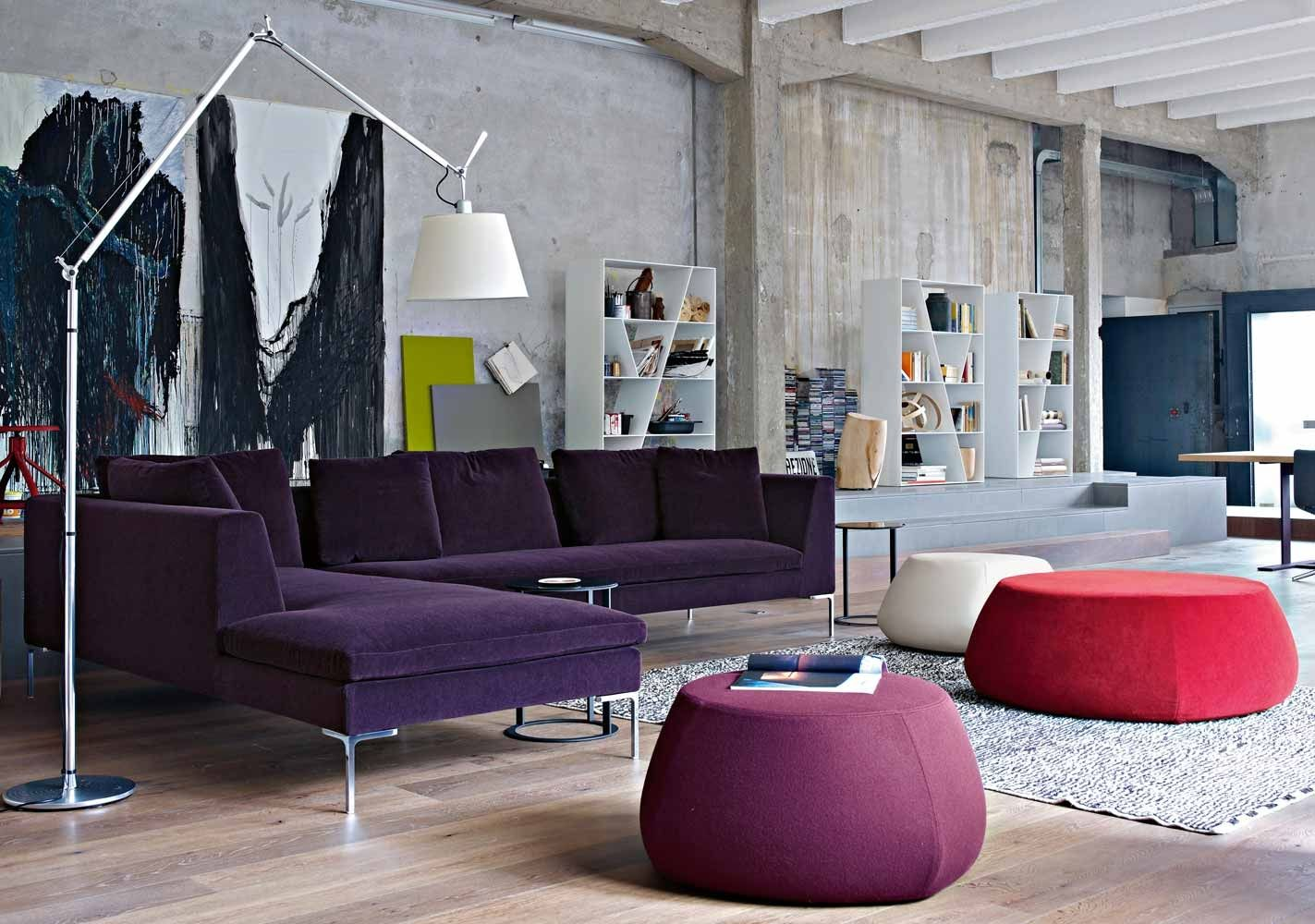 modular sofa contemporary leather fabric charles bb italia bb italy furniture