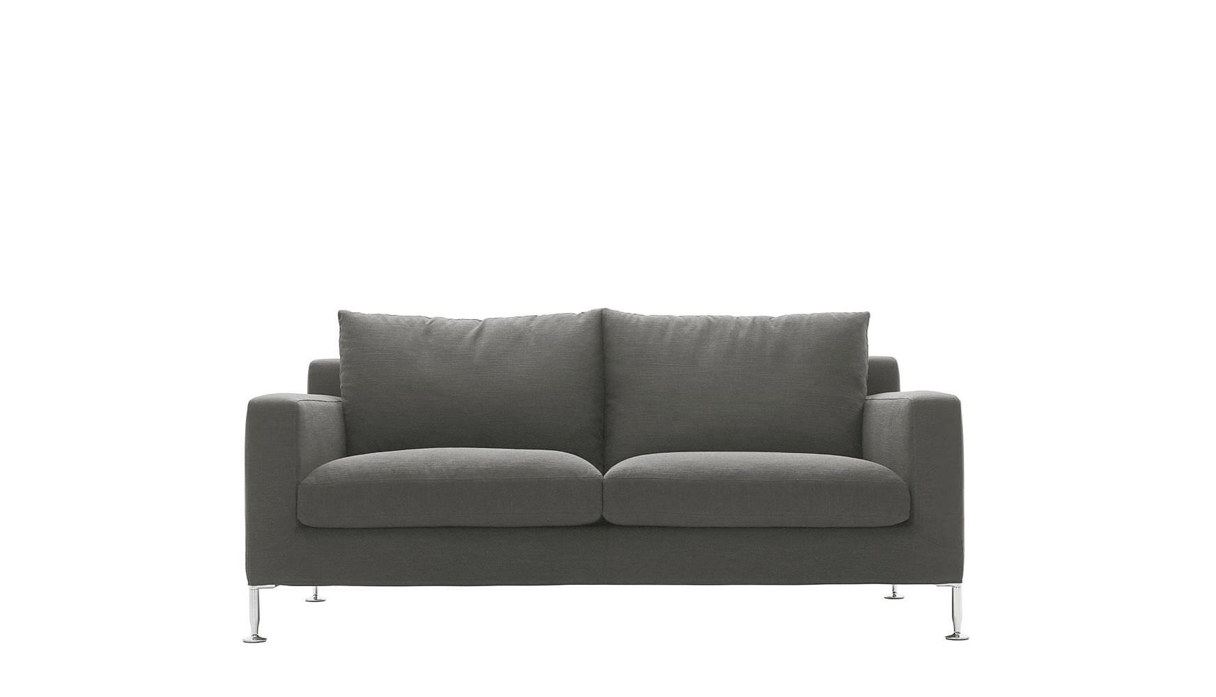 Contemporary Sofa Leather Fabric By Antonio Citterio Harry