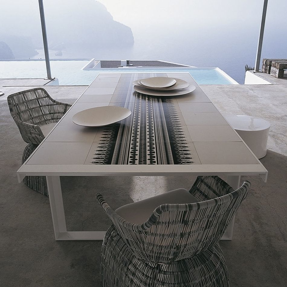Contemporary Table / Metal / Porcelain Stoneware / Rectangular   CANASTA