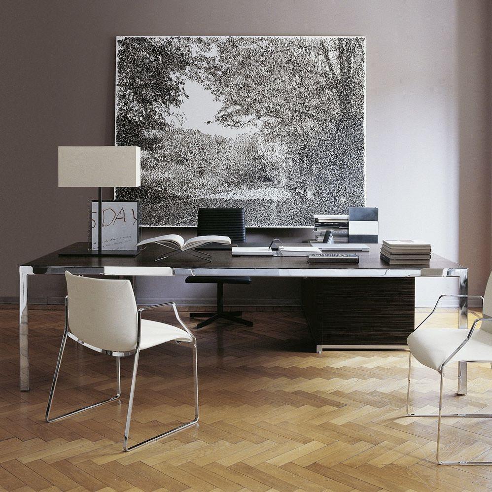 Executive Desk Wooden Steel Gl Progetto1 By Monica Armani