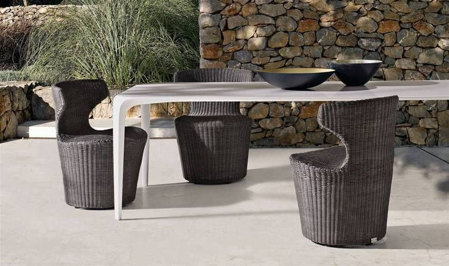 Contemporary Table / Cristalplant® / Rectangular / Garden   LINK OUTDOOR By  Jakob Wagner