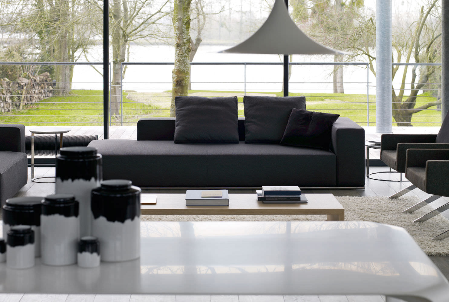 Modular sofa / contemporary / leather / fabric - ANDY\'13 by Paolo ...