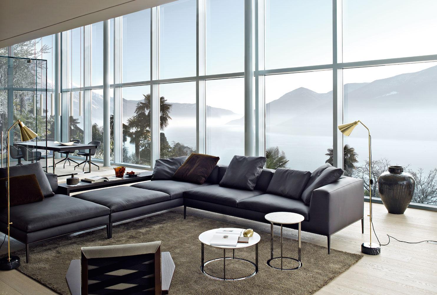 Modular sofa / contemporary / leather / fabric - MICHEL - B&B Italia