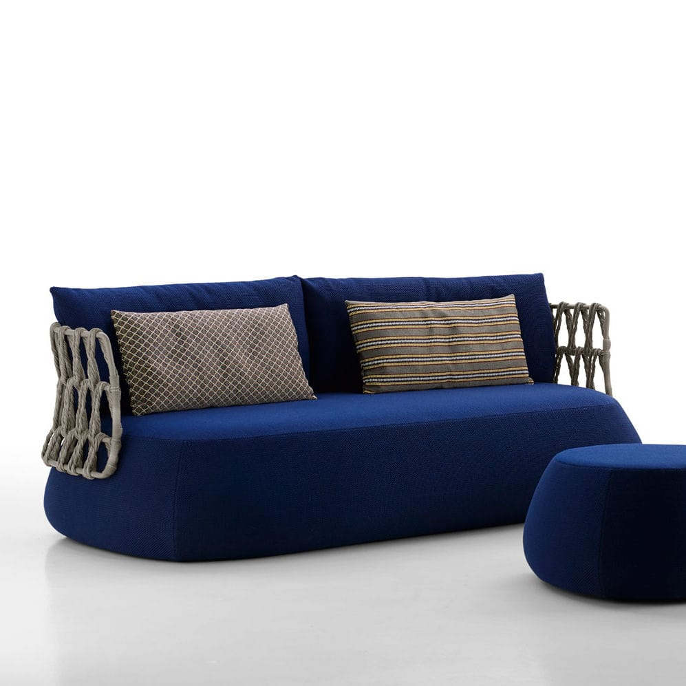 Round Sofa / Contemporary / Garden / Synthetic Fiber   FAT