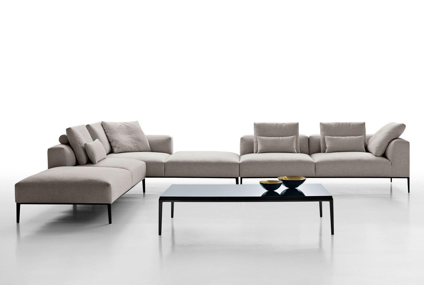 Modular Sofa Contemporary Leather Fabric Michel Effe