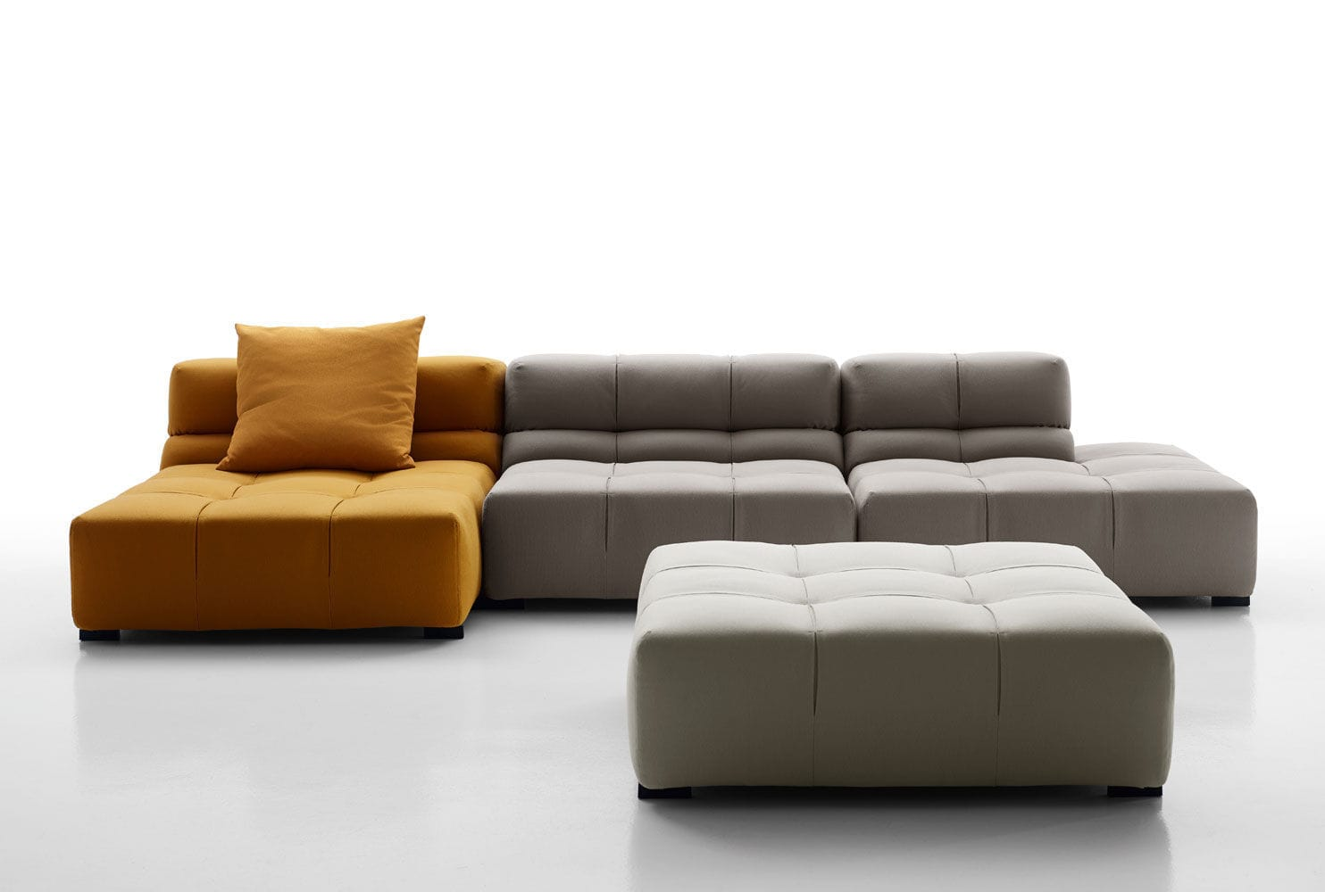 Modular Sofa Contemporary Leather Fabric Tufty Time 15