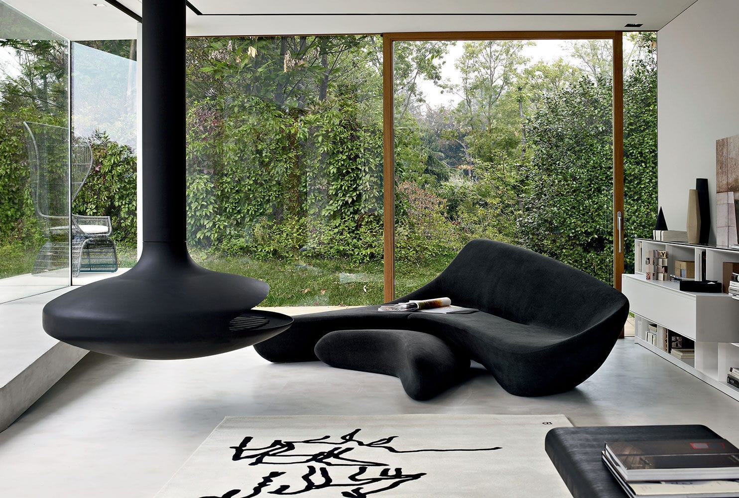 ... Corner Sofa / Organic Design / Fabric / By Zaha Hadid ...