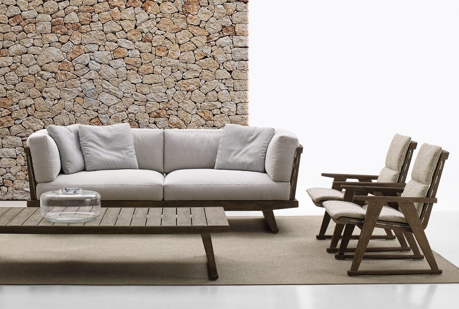 contemporary coffee table teak rectangular garden gio b b