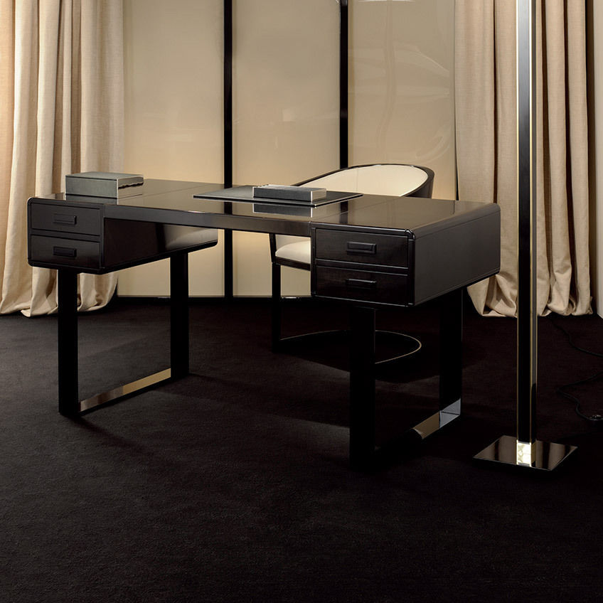 Maple Desk Steel Contemporary Euclide