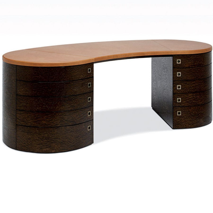 Wooden Desk Leather Contemporary Giunone