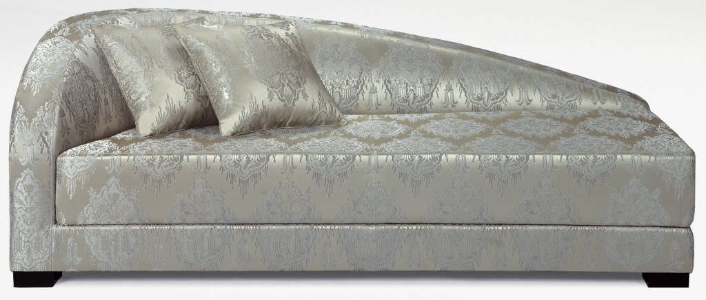 Contemporary Daybed Fabric Leather Indoor Adriana