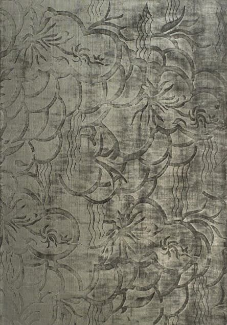 Contemporary Rug Patterned Silk Rectangular Croquis