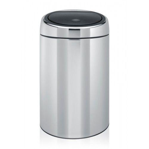metal trash can touch bin415920
