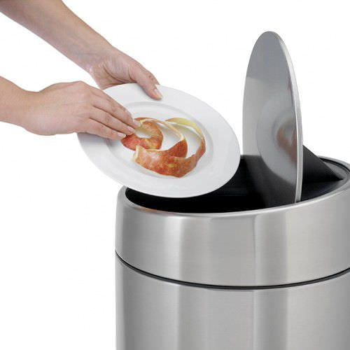 Kitchen Trash Can / Stainless Steel / Contemporary - Slide