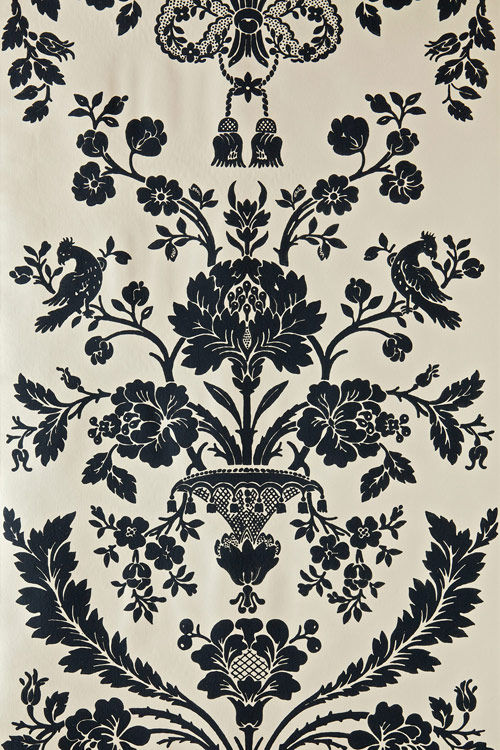 Traditional Wallpaper Floral Damask